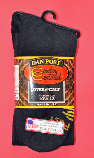 Dan Post Cowboy Certified Over the Calf Boot – Men's White or Black