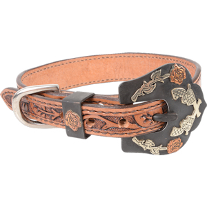 Pistols and Roses Dog Collar – Matches Pistols and Roses Horse Tack