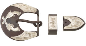 Buckle with Crossed Pistols