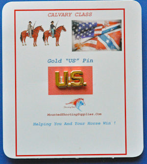 Cavalry - Officer's Gold Us Pin